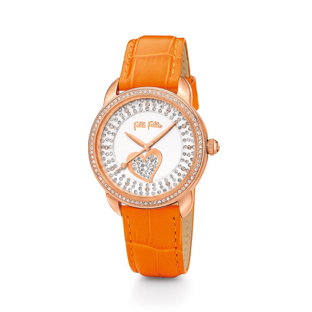 fdeda3e903 Factoryoutlet FOLLI FOLLIE - Γυναικείο ρολόι Folli Follie πορτοκαλί