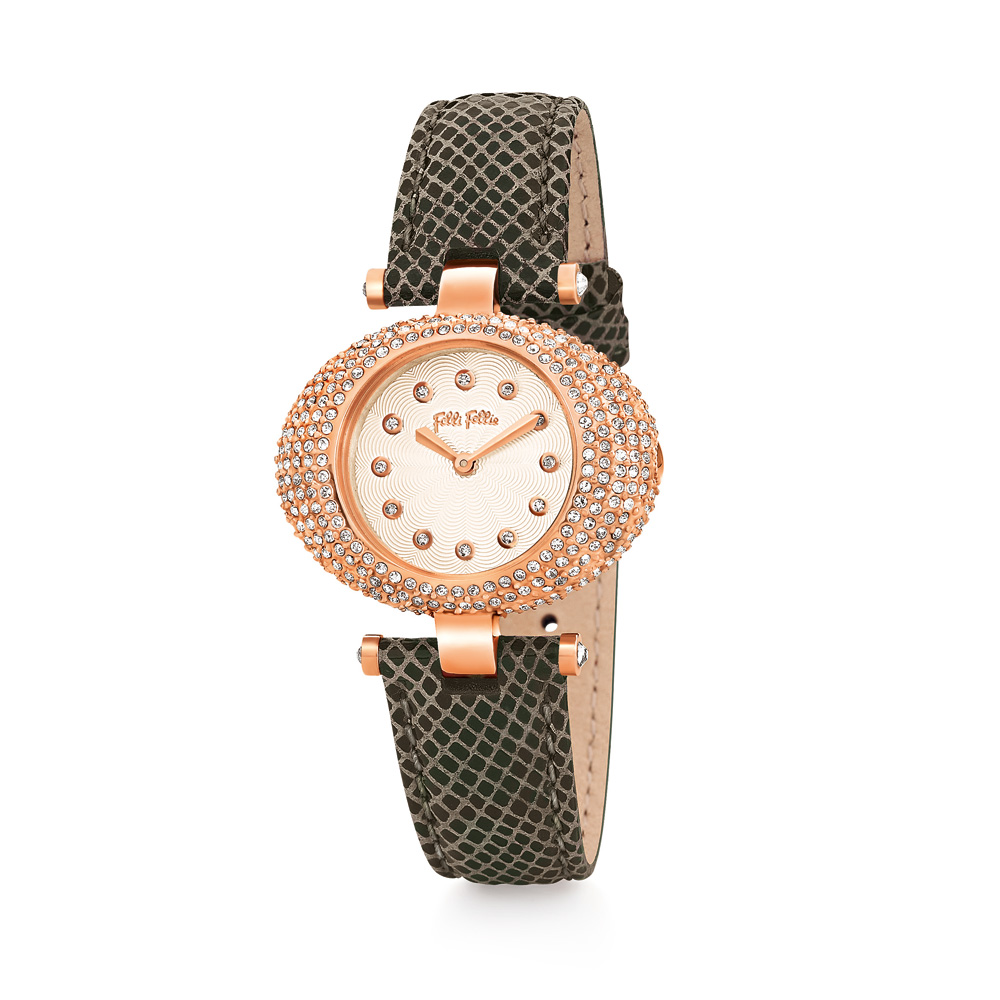 FOLLI FOLLIE - Γυναικείο ρολόι Folli Follie πράσινο γυναικεία αξεσουάρ ρολόγια δερμάτινα