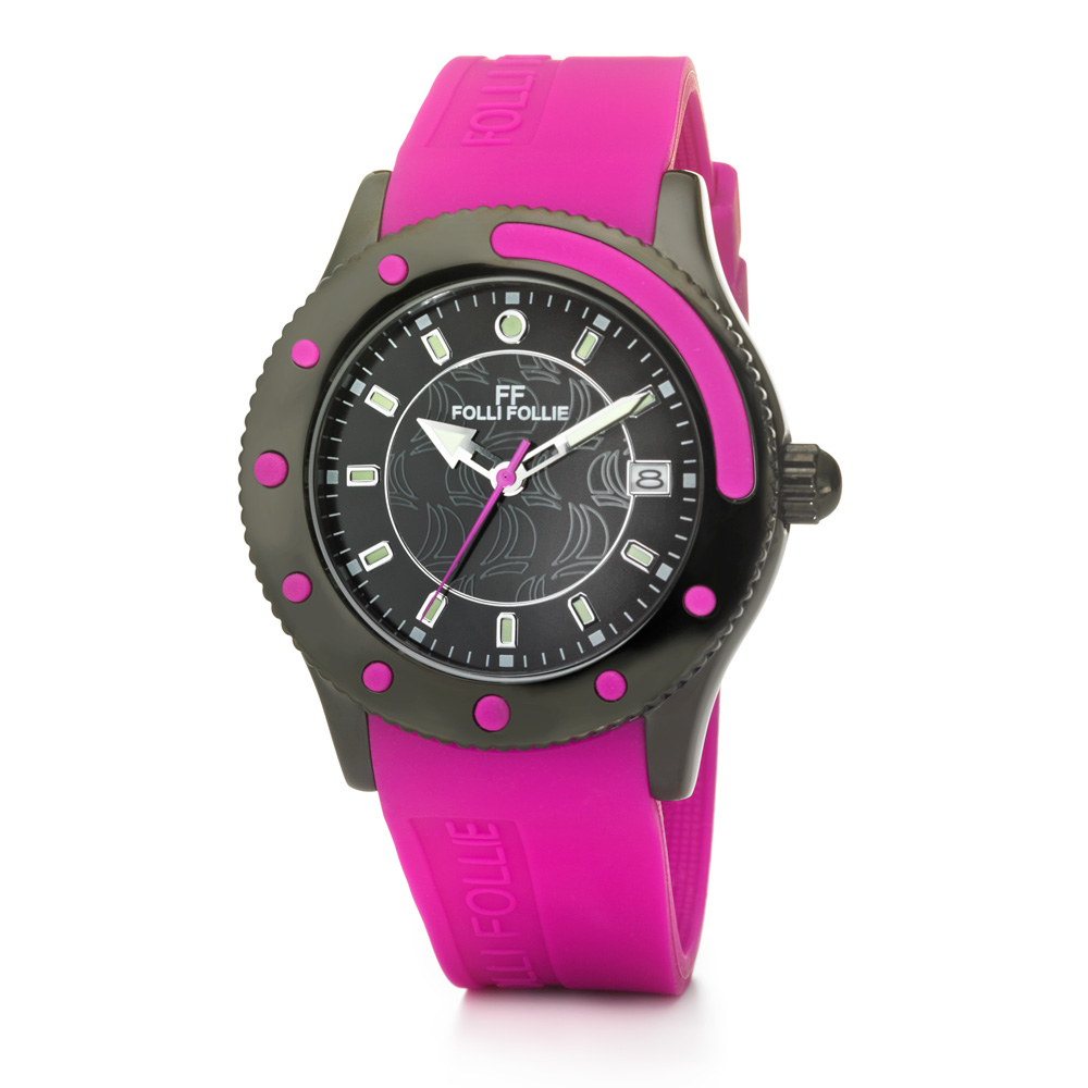 FOLLI FOLLIE - Γυναικείο ρολόι Folli Follie ροζ γυναικεία αξεσουάρ ρολόγια αθλητικά