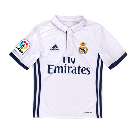 17e45b93fbfe Παιδική ποδοσφαιρική μπλούζα adidas Real Madrid λευκή (1584362.0-95d2) |  Factory Outlet
