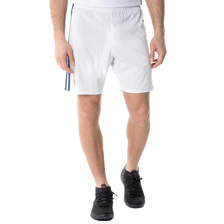 adidas - Ανδρικό σορτς REAL H SHO FOOTBALL/SOCCER λευκό ανδρικά ρούχα σορτς βερμούδες αθλητικά