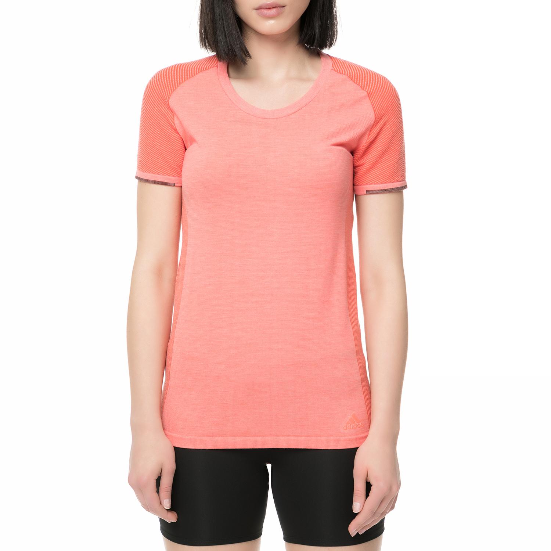 adidas performance - Γυναικείο t-shirt για τρέξιμο Primeknit ροζ γυναικεία ρούχα αθλητικά t shirt τοπ