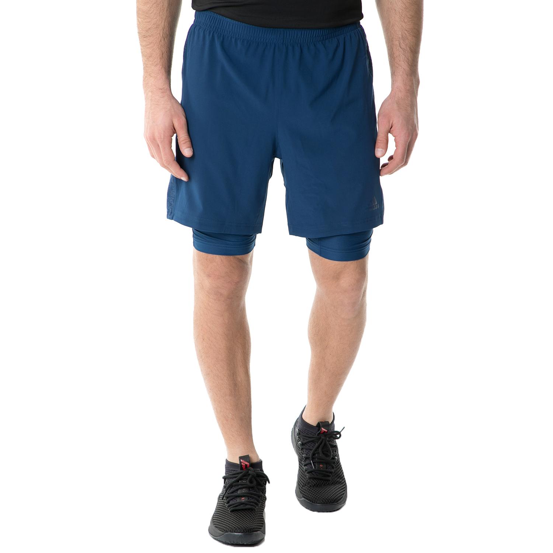 adidas - Ανδρικό αθλητικό σορτς με κολάν adidas SN RUNNING μπλε ανδρικά ρούχα σορτς βερμούδες αθλητικά