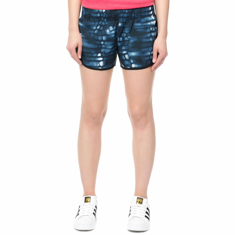 adidas - Γυναικείο αθληιτκό σορτς adidas μπλε με print γυναικεία ρούχα σορτς βερμούδες αθλητικά