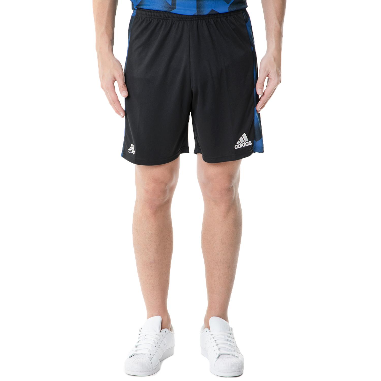 adidas - Ανδρικό αθλητικό σορτς adidas TAN SHORTS FOOTBALL/SOCCER μαύρο-μπλε ανδρικά ρούχα σορτς βερμούδες αθλητικά