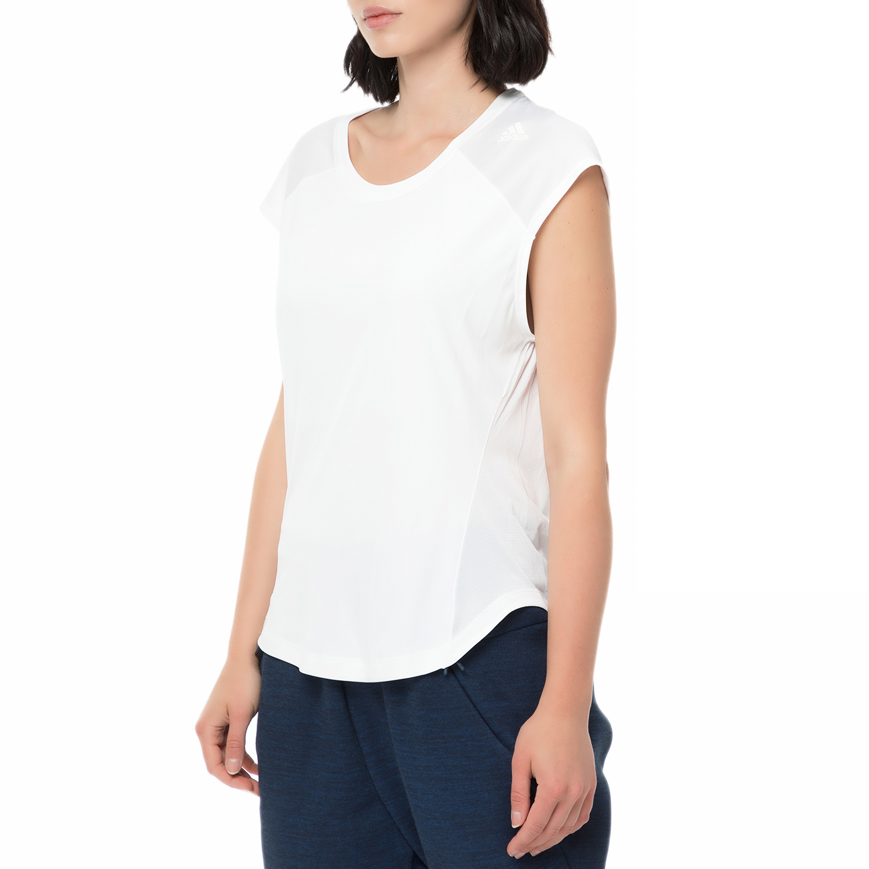 28117351362 adidas - Γυναικείο αθλητικό t-shirt adidas SHODO SS TEE RUNNING λευκό,  ΓΥΝΑΙΚΑ   ΡΟΥΧΑ   ΑΘΛΗΤΙΚΑ   T-SHIRTS