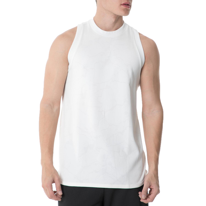adidas - Ανδρική θλητική αμάνικη μπλούζα adidas AMERRCAN SPORTS TANK λευκή ανδρικά ρούχα αθλητικά t shirt