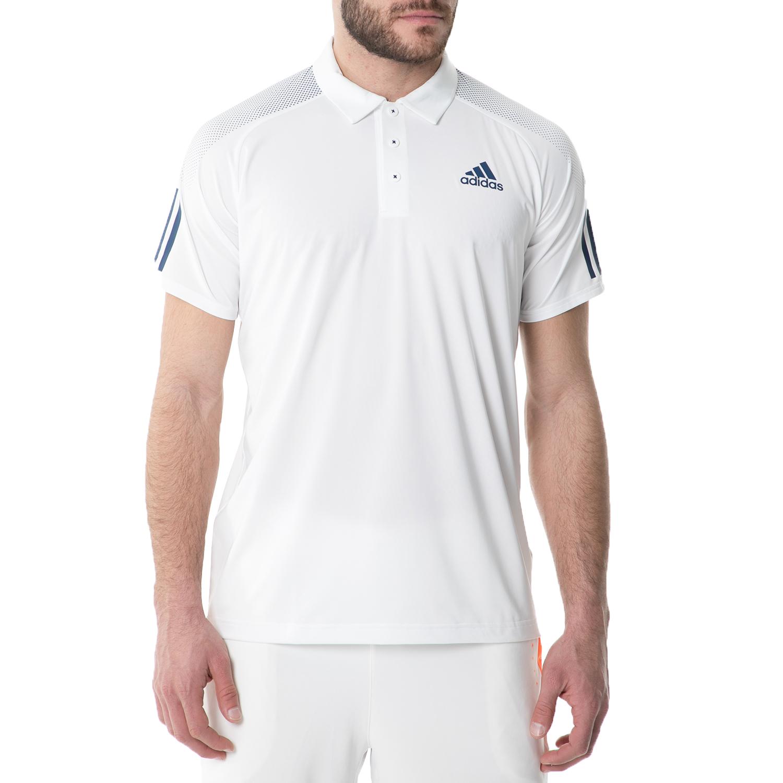 adidas - Ανδρική κοντομάνικη πόλο μπλούζα adidas BARRICADE POLO TENNIS λευκή ανδρικά ρούχα αθλητικά t shirt