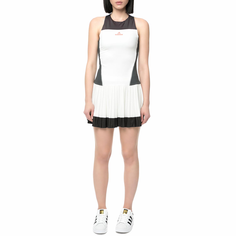 adidas McCartney - Γυναικείο φόρεμα τένις adidas λευκό - μαύρο γυναικεία ρούχα φορέματα μίνι
