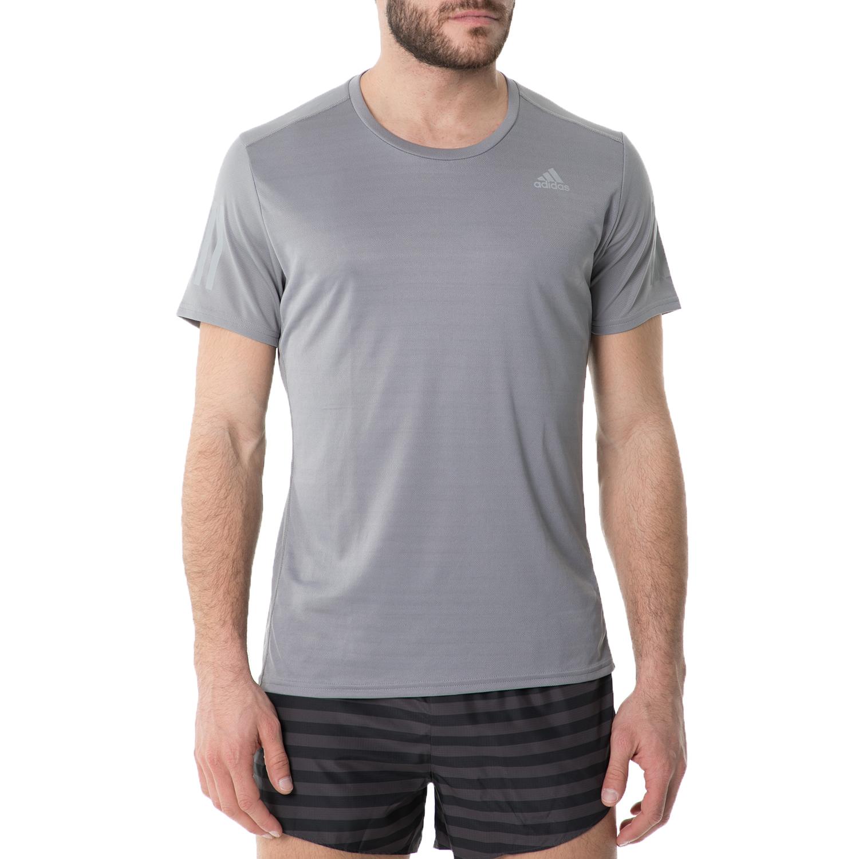 adidas - Ανδρική κοντομάνικη μπλούζα adidas RS RUNNING γκρι ανδρικά ρούχα αθλητικά t shirt