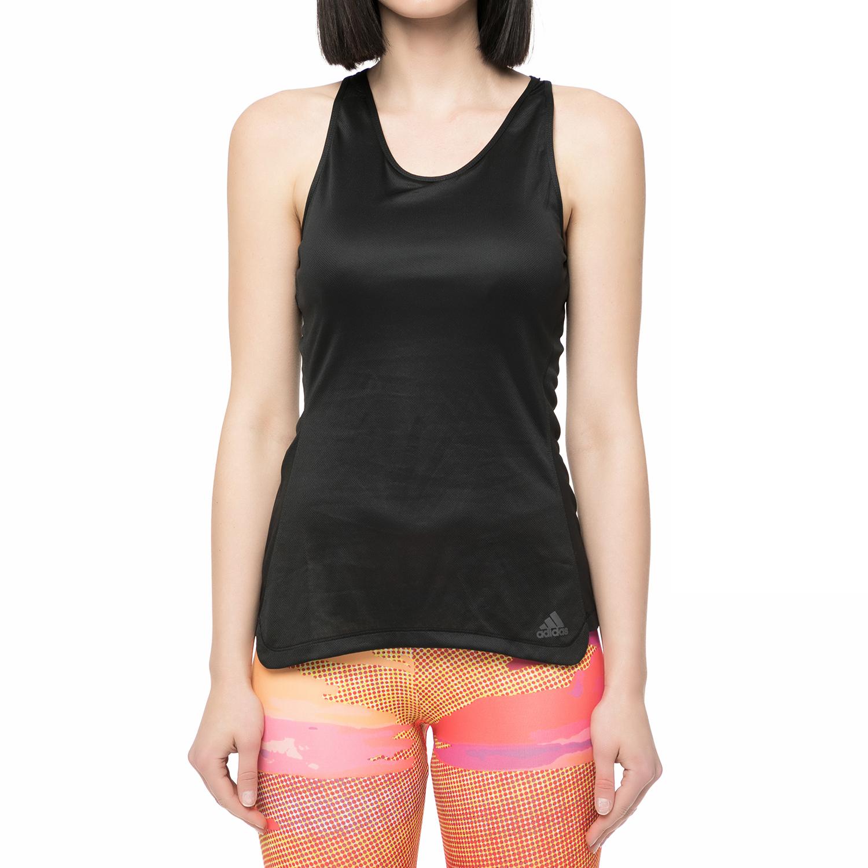 ADIDAS - Γυναικεία αμάνικη μπλούζα RESPONSE CUP TANK μαύρη γυναικεία ρούχα αθλητικά t shirt τοπ
