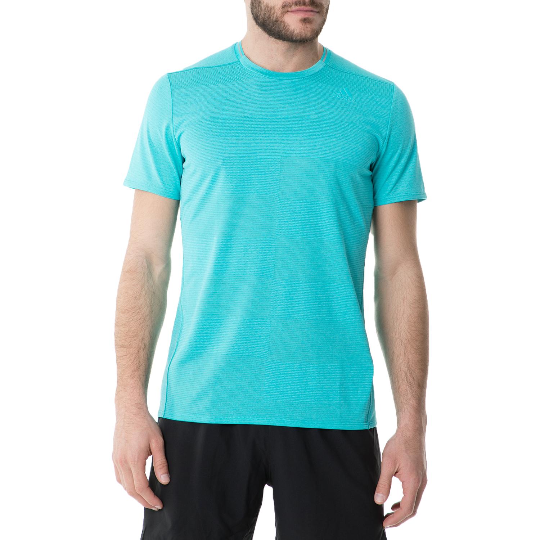 adidas - Ανδρική κοντομάνικη μπλούζα adidas SN S-S RUNNING γαλάζια ανδρικά ρούχα αθλητικά t shirt