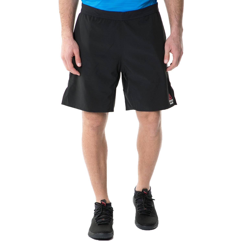 REEBOK - Ανδρική αθλητική βερμούδα Reebok CF SN SPEED II μαύρη ανδρικά ρούχα σορτς βερμούδες αθλητικά