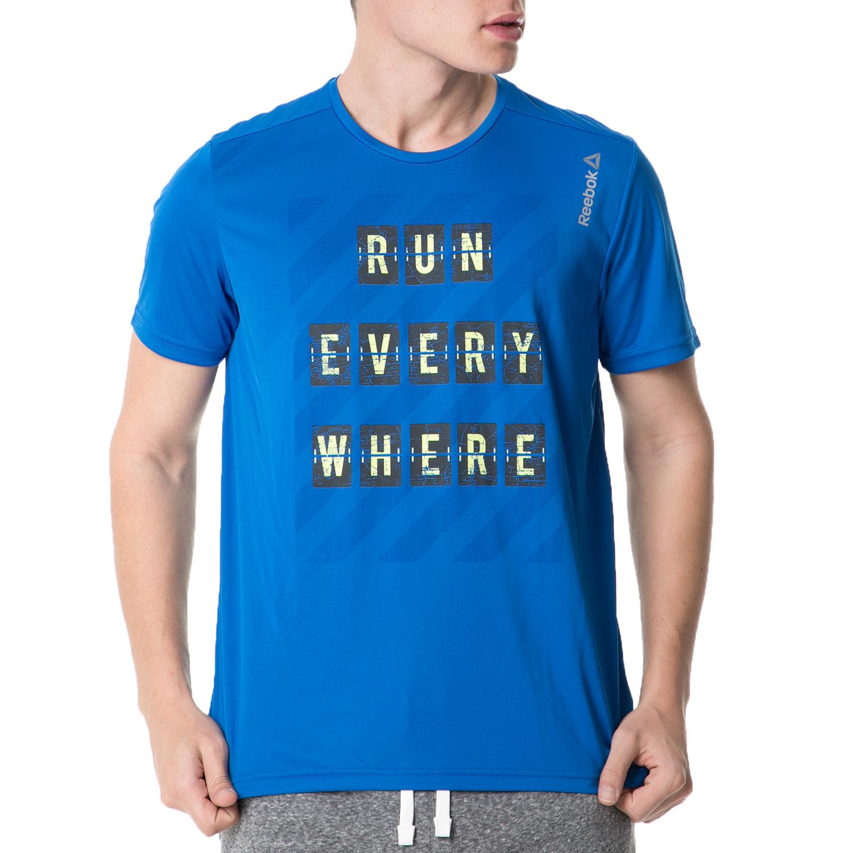 9be10a857a4 REEBOK - Ανδρικό αθλητικό t-shirt Reebok SS TEE μπλε
