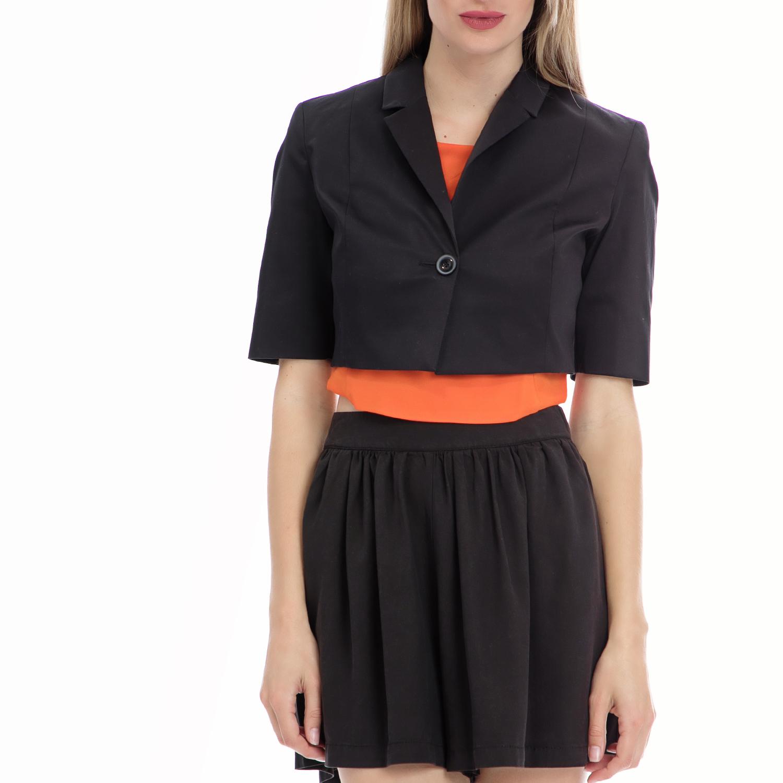 MOTIVI - Γυναικείο σακάκι MOTIVI μαύρο γυναικεία ρούχα πανωφόρια σακάκια