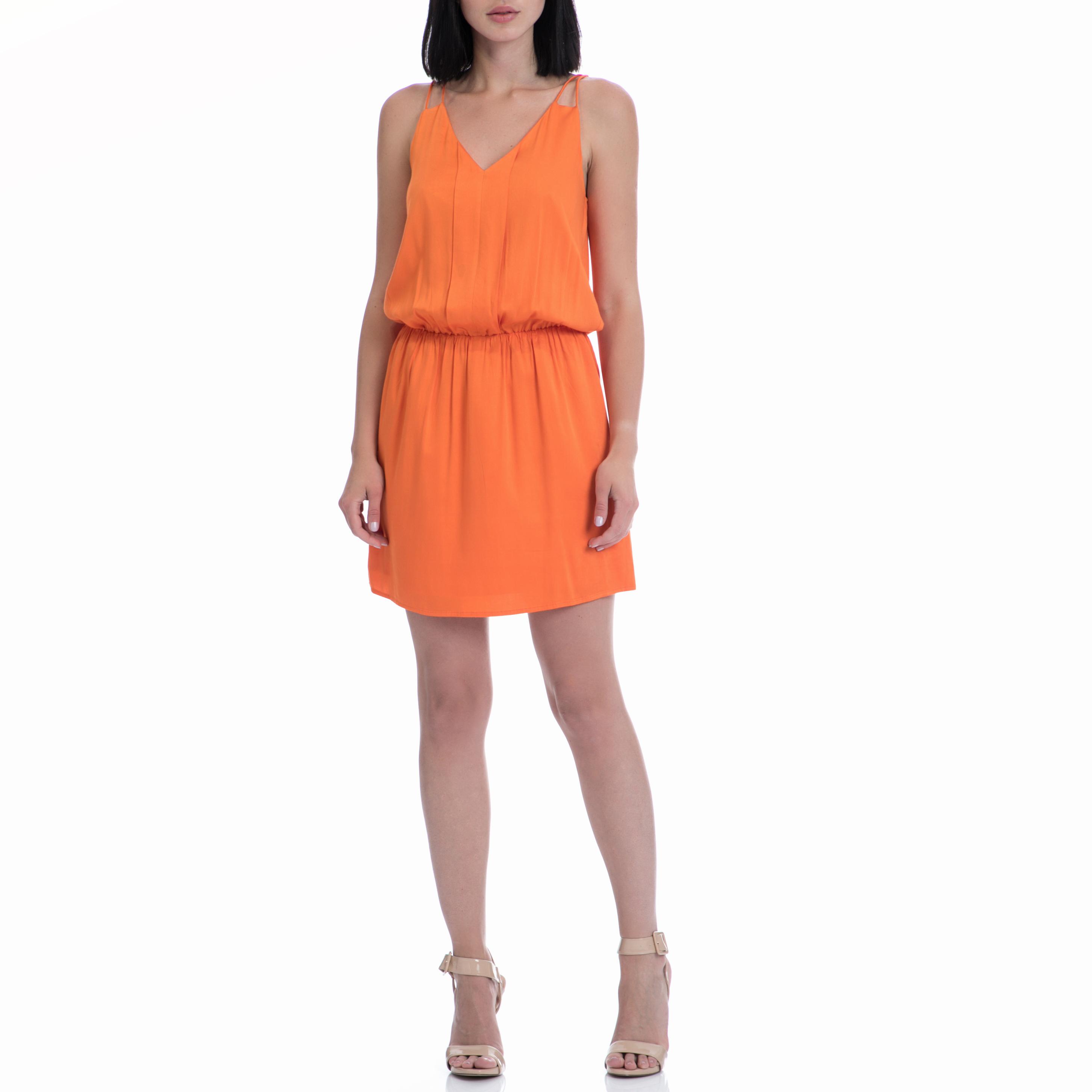 MOTIVI - Φόρεμα MOTIVI πορτοκαλί γυναικεία ρούχα φορέματα μίνι