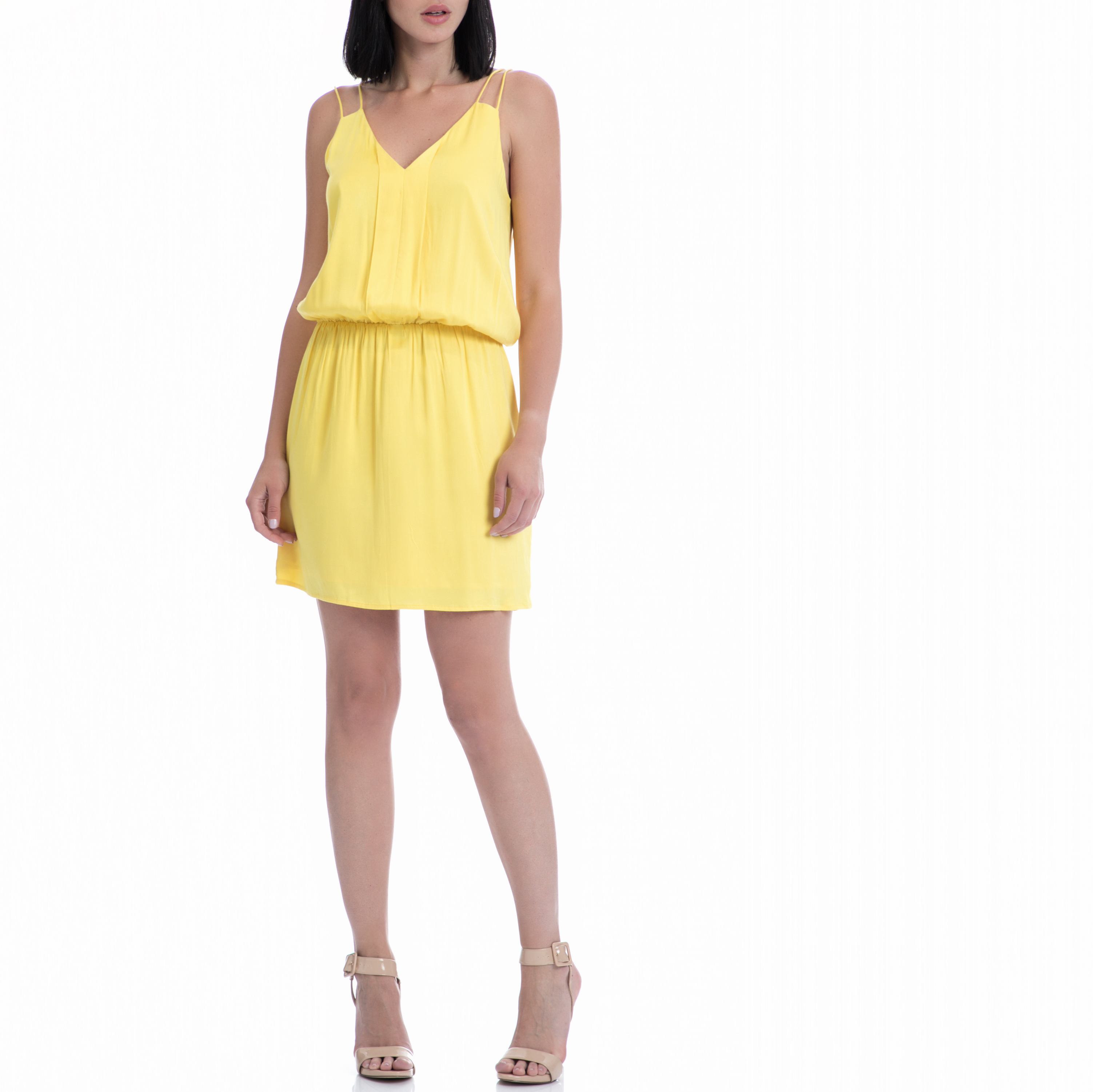 MOTIVI - Φόρεμα MOTIVI κίτρινο γυναικεία ρούχα φορέματα μίνι