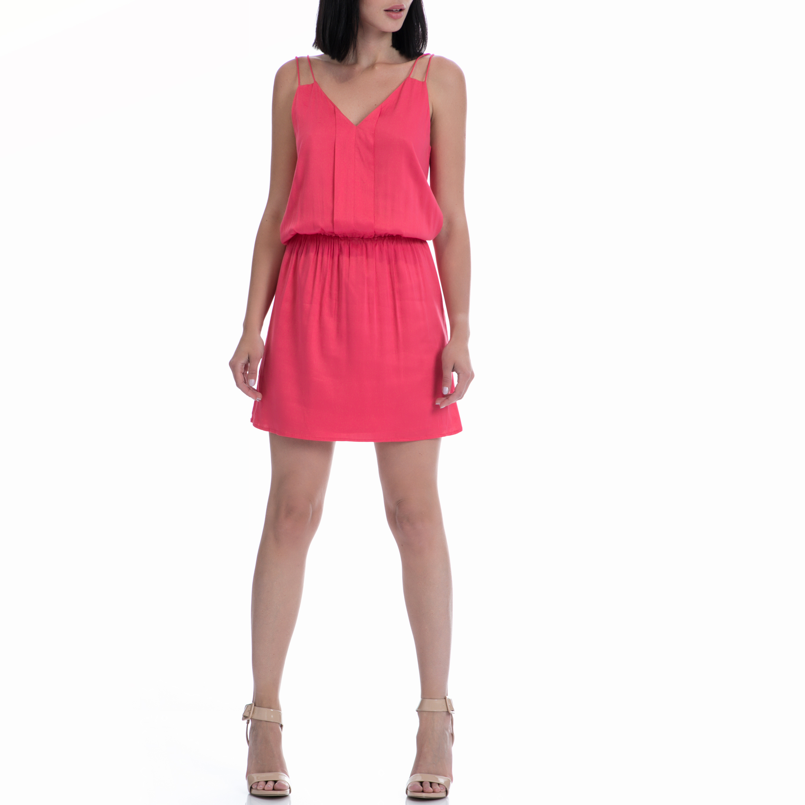 MOTIVI - Φόρεμα MOTIVI φούξια γυναικεία ρούχα φορέματα μίνι