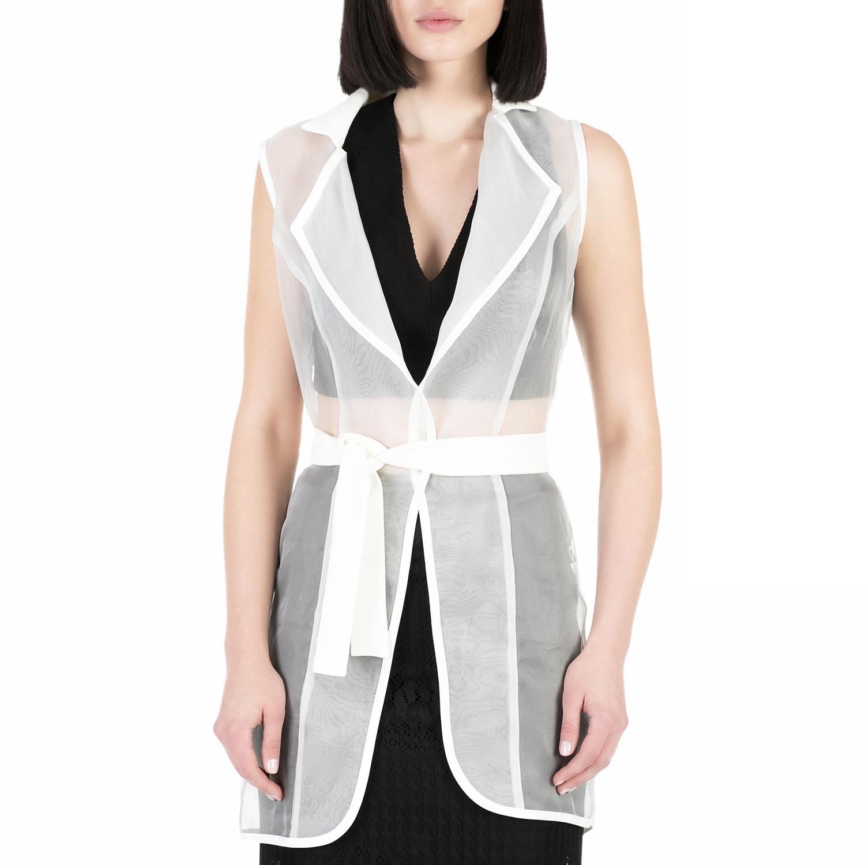 YVONNE BOSNJAK – Γυναικείο αμάνικο σακάκι Yvonne Bosnjak λευκό ημιδιαφανές