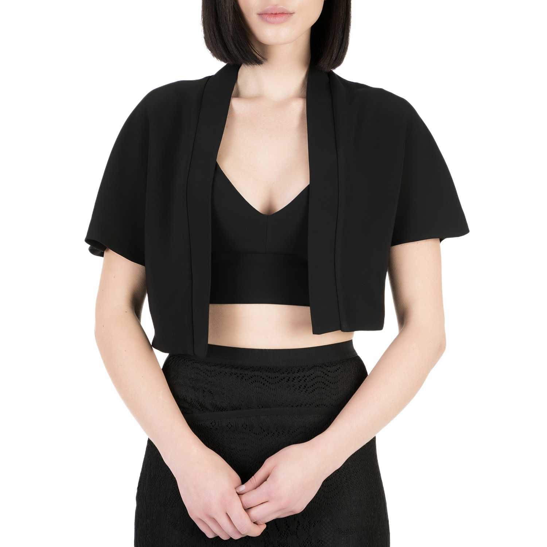 YVONNE BOSNJAK - Γυναικείο crop σακάκι Yvonne Bosnjak μαύρο γυναικεία ρούχα πανωφόρια σακάκια