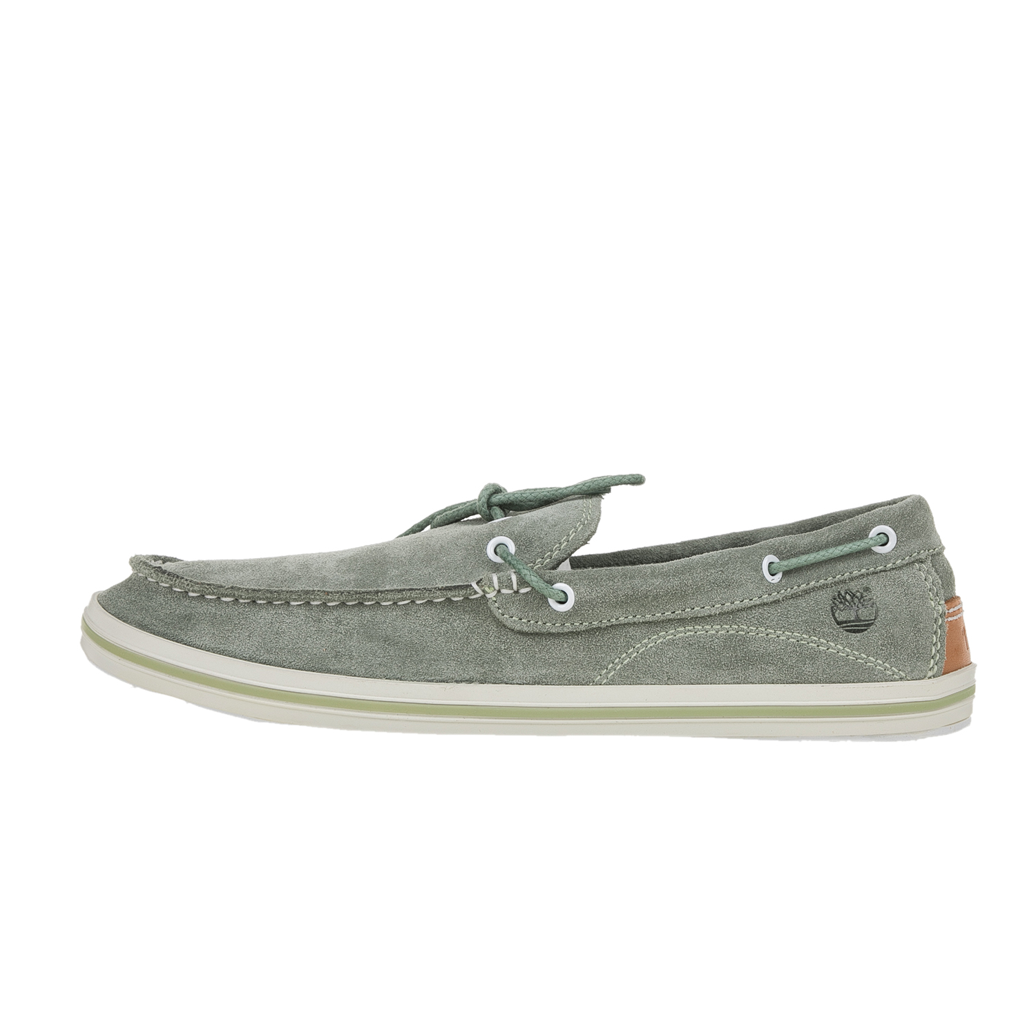 26be2eef130 TIMBERLAND – Ανδρικά δερμάτινα boat shoes TIMBERLAND γκρι-πράσινα