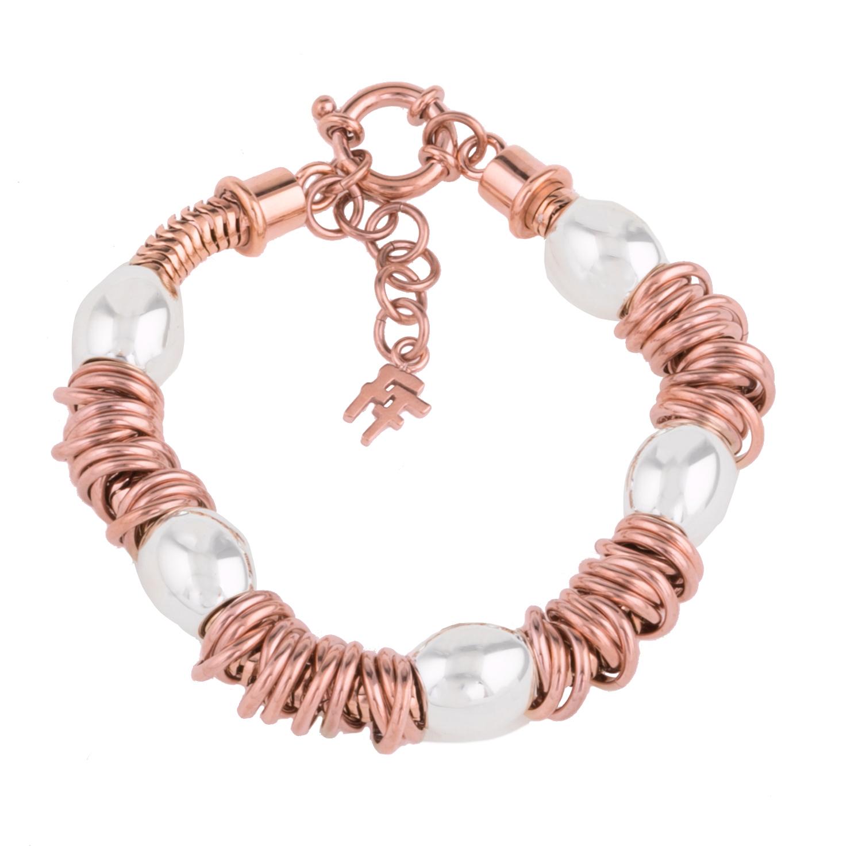 afa6b02545 FOLLI FOLLIE – Γυναικείο βραχιόλι FOLLI FOLLIE AEGEAN BREEZE ροζ χρυσό