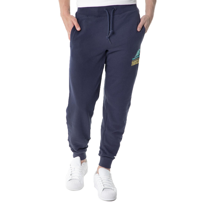 NEW BALANCE - Ανδρικό παντελόνι φόρμας NEW BALANCE μπλε ανδρικά ρούχα αθλητικά φόρμες