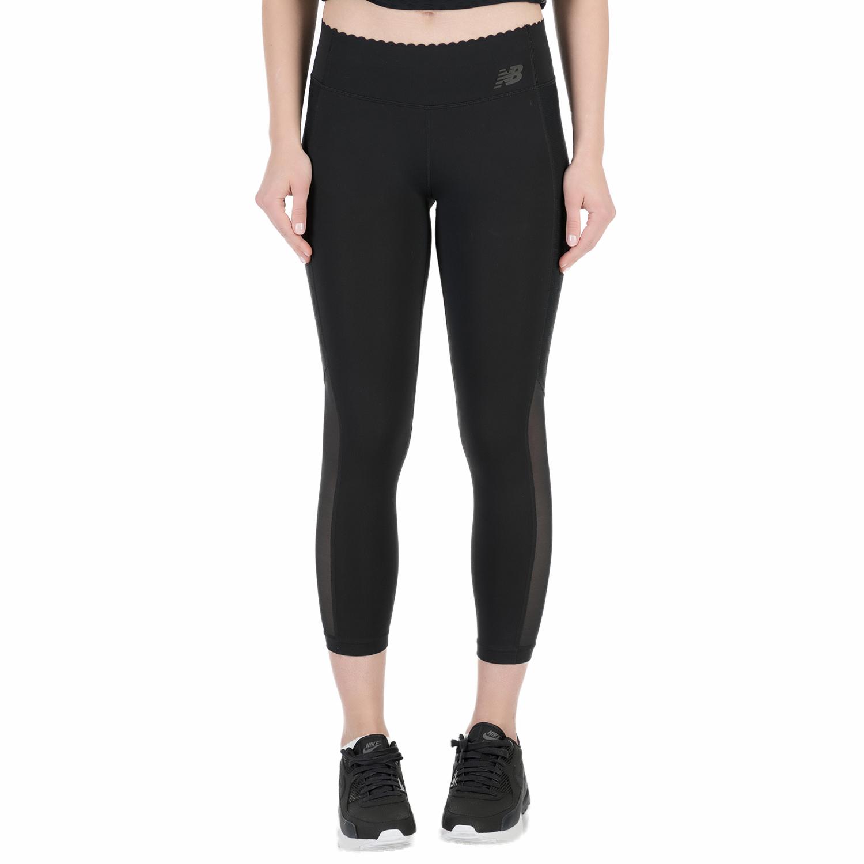 NEW BALANCE - Γυναικείο crop κολάν New Balance μαύρο γυναικεία ρούχα αθλητικά κολάν