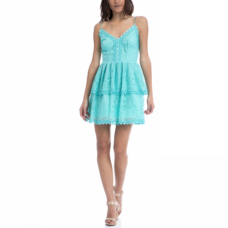 TEA & ROSE - Φόρεμα TEA & ROSE γαλάζιο γυναικεία ρούχα φορέματα μίνι