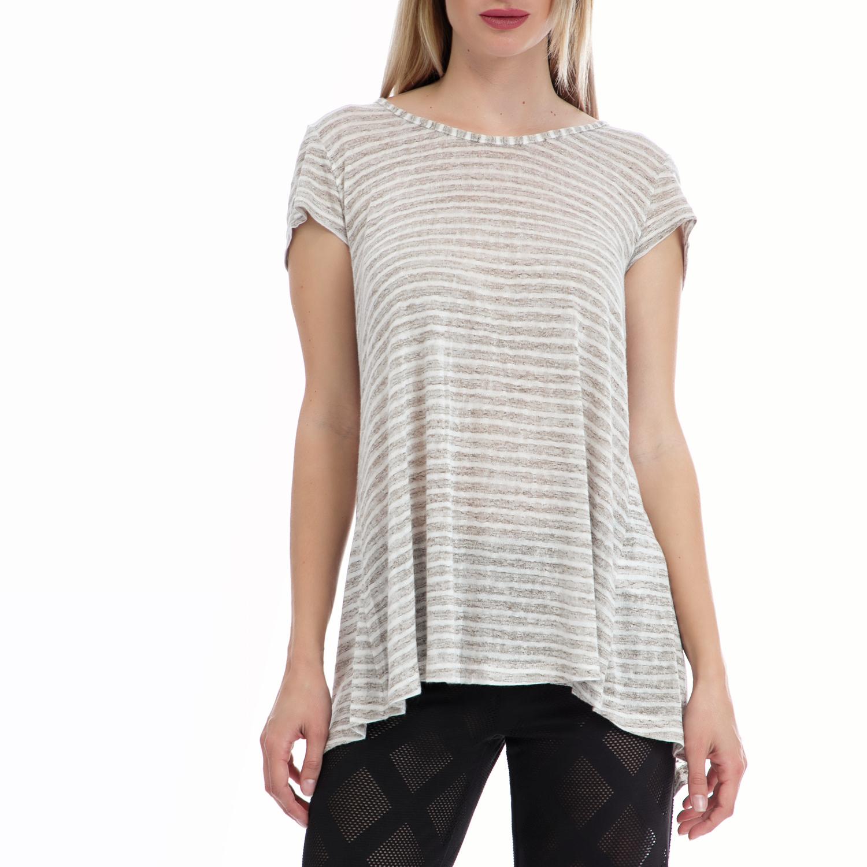 238576c5e1a9 VINTAGE SUGAR – Γυναικεία μπλούζα Vintage Sugar λευκή-μπεζ. Factory Outlet