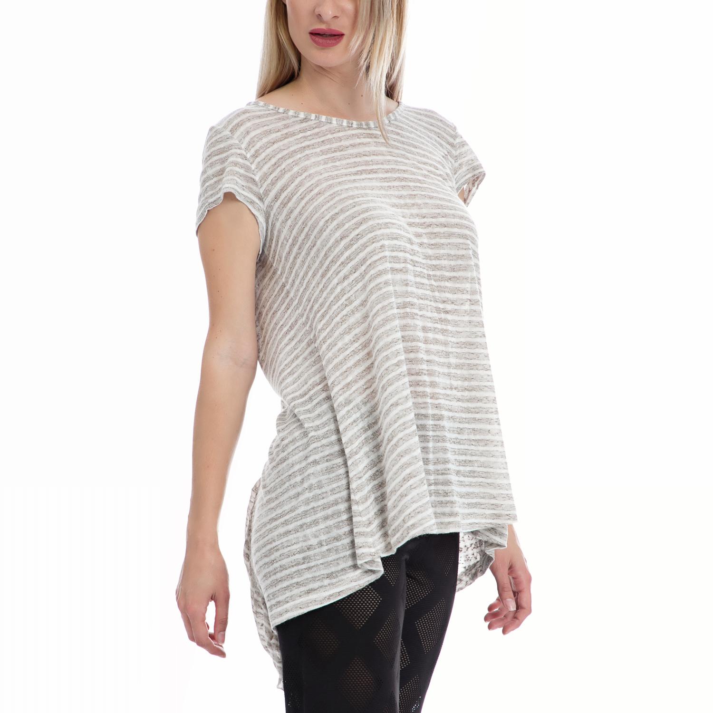 d99b6f9736cf VINTAGE SUGAR - Γυναικεία μπλούζα Vintage Sugar λευκή-μπεζ