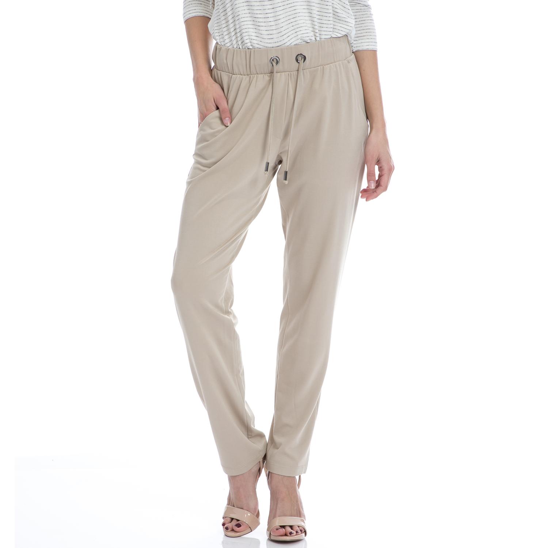 VINTAGE SUGAR - Γυναικείο παντελόνι Vintage Sugar μπεζ γυναικεία ρούχα παντελόνια ισια γραμμή