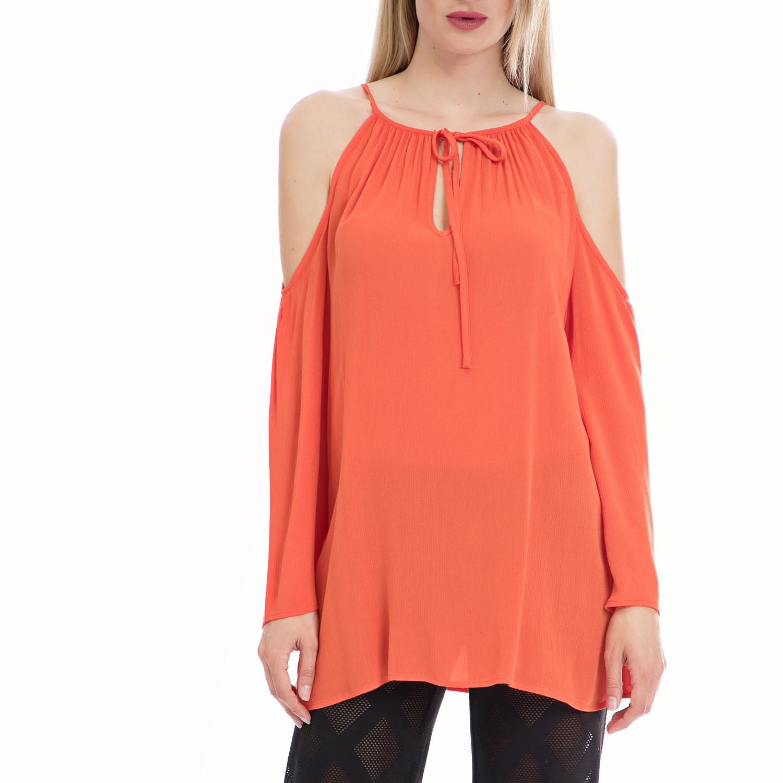 VINTAGE SUGAR - Γυναικεία μπλούζα Vintage Sugar κοραλί γυναικεία ρούχα μπλούζες μακρυμάνικα