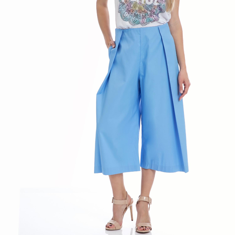 MY TIFFANY - Ζιπ κιλότ MY TIFFANY γαλάζια γυναικεία ρούχα παντελόνια cropped