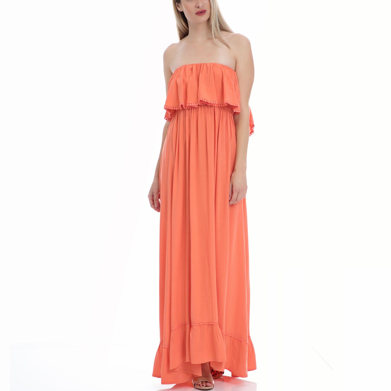 VINTAGE SUGAR - Φόρεμα Vintage Sugar κοραλί