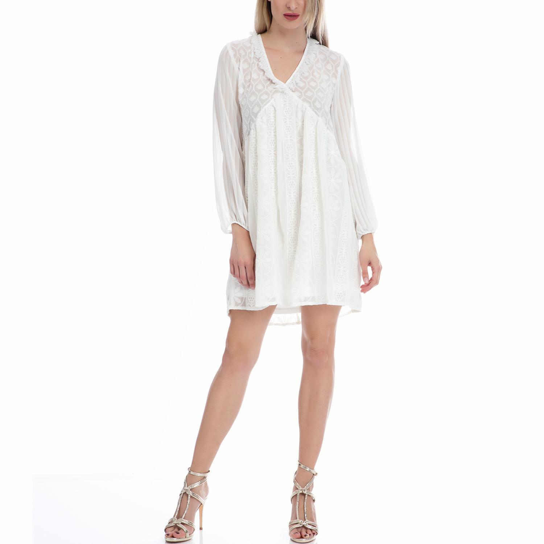 MY TIFFANY - Φόρεμα MY TIFFANY λευκό γυναικεία ρούχα φορέματα μίνι