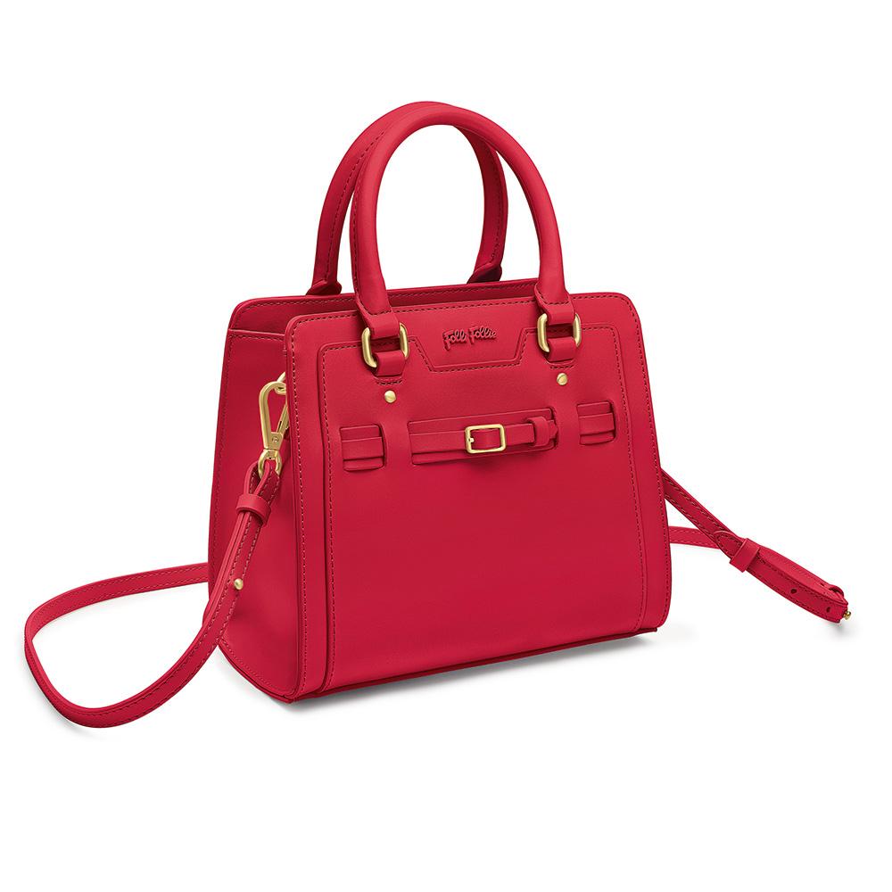FOLLI FOLLIE - Γυναικεία τσάντα χειρός FOLLI FOLLIE κόκκινη γυναικεία αξεσουάρ τσάντες σακίδια χειρός
