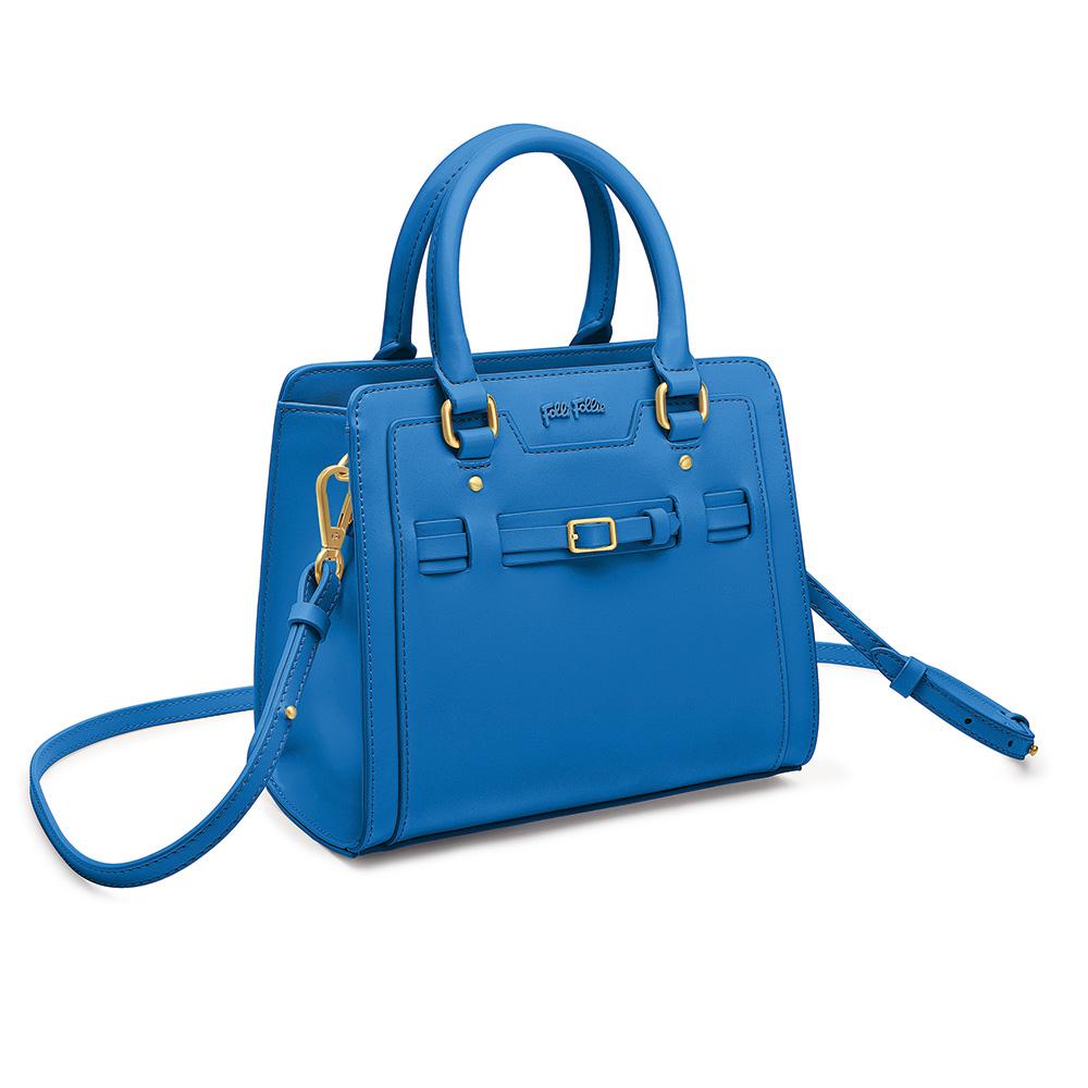 FOLLI FOLLIE - Γυναικεία τσάντα χειρός FOLLI FOLLIE μπλε γυναικεία αξεσουάρ τσάντες σακίδια χειρός