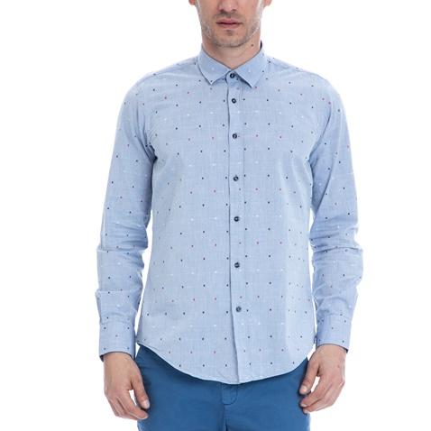 HAMPTONS-Ανδρικό πουκάμισο HAMPTONS γαλάζιο