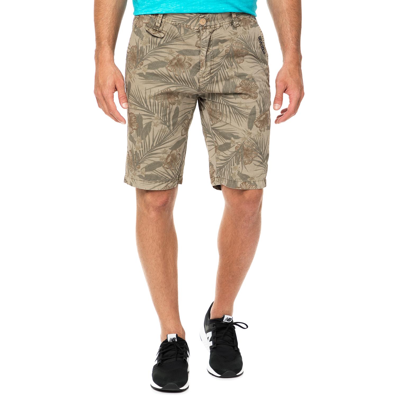 DEVERGO JEANS - Ανδρική βερμούδα DEVERGO JEANS μπεζ ανδρικά ρούχα σορτς βερμούδες casual jean