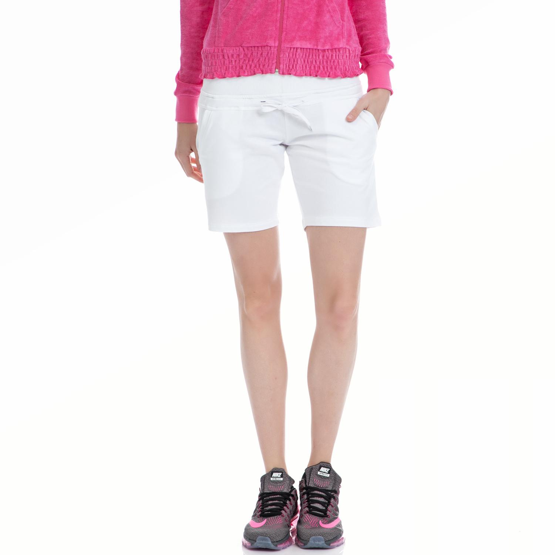 BODY TALK - Γυναικείο σορτς BODYTALK λευκό γυναικεία ρούχα σορτς βερμούδες αθλητικά