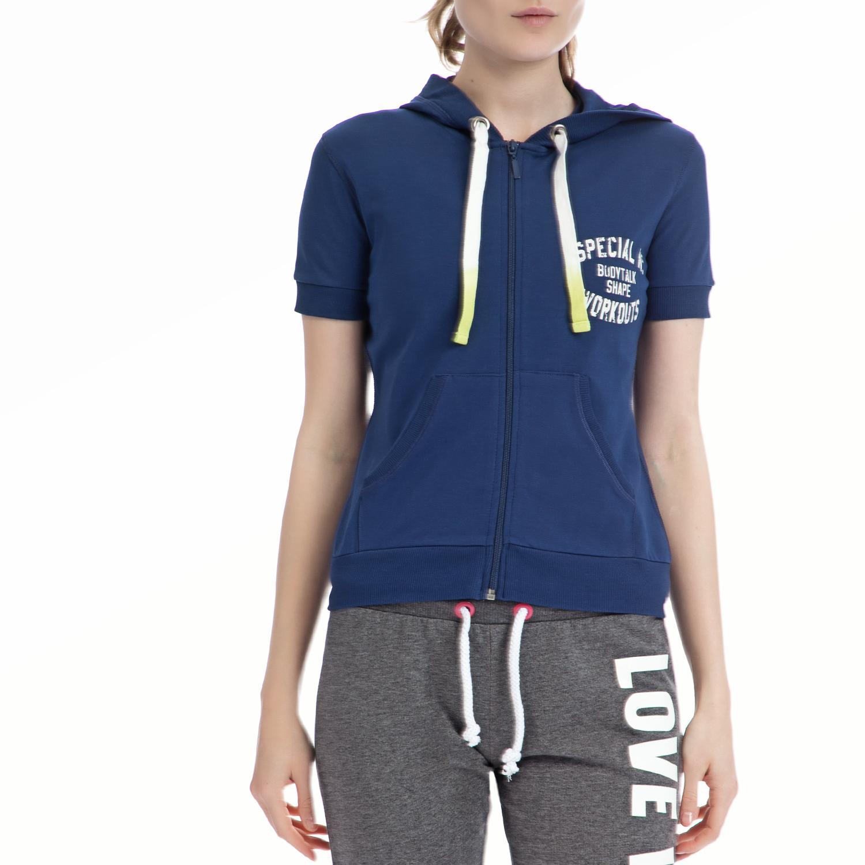 BODYTALK - Γυναικεία ζακέτα BODYTALK μπλε γυναικεία ρούχα φούτερ ζακέτες