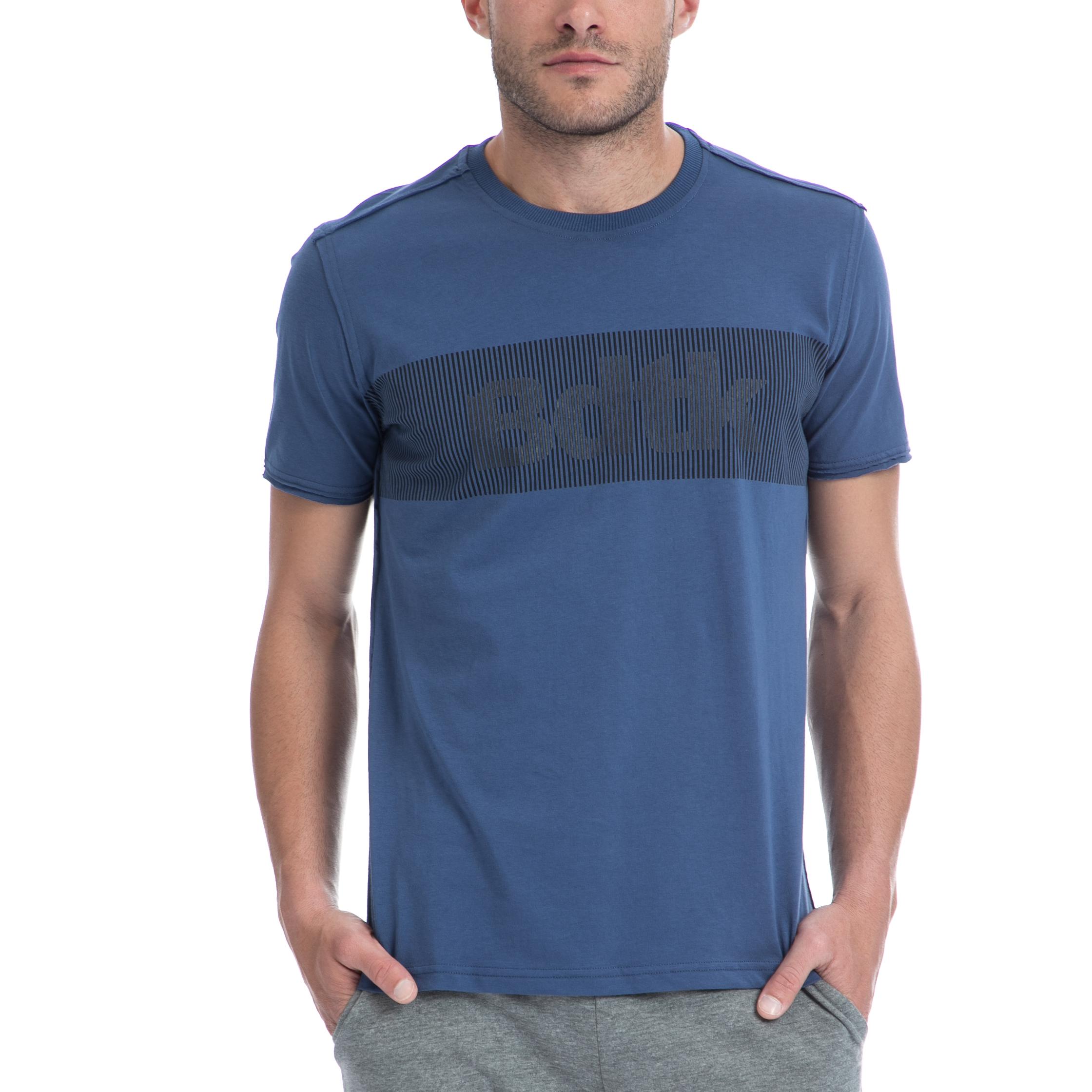BODYTALK - Ανδρική μπλούζα BODYTALK μπλε ανδρικά ρούχα αθλητικά t shirt