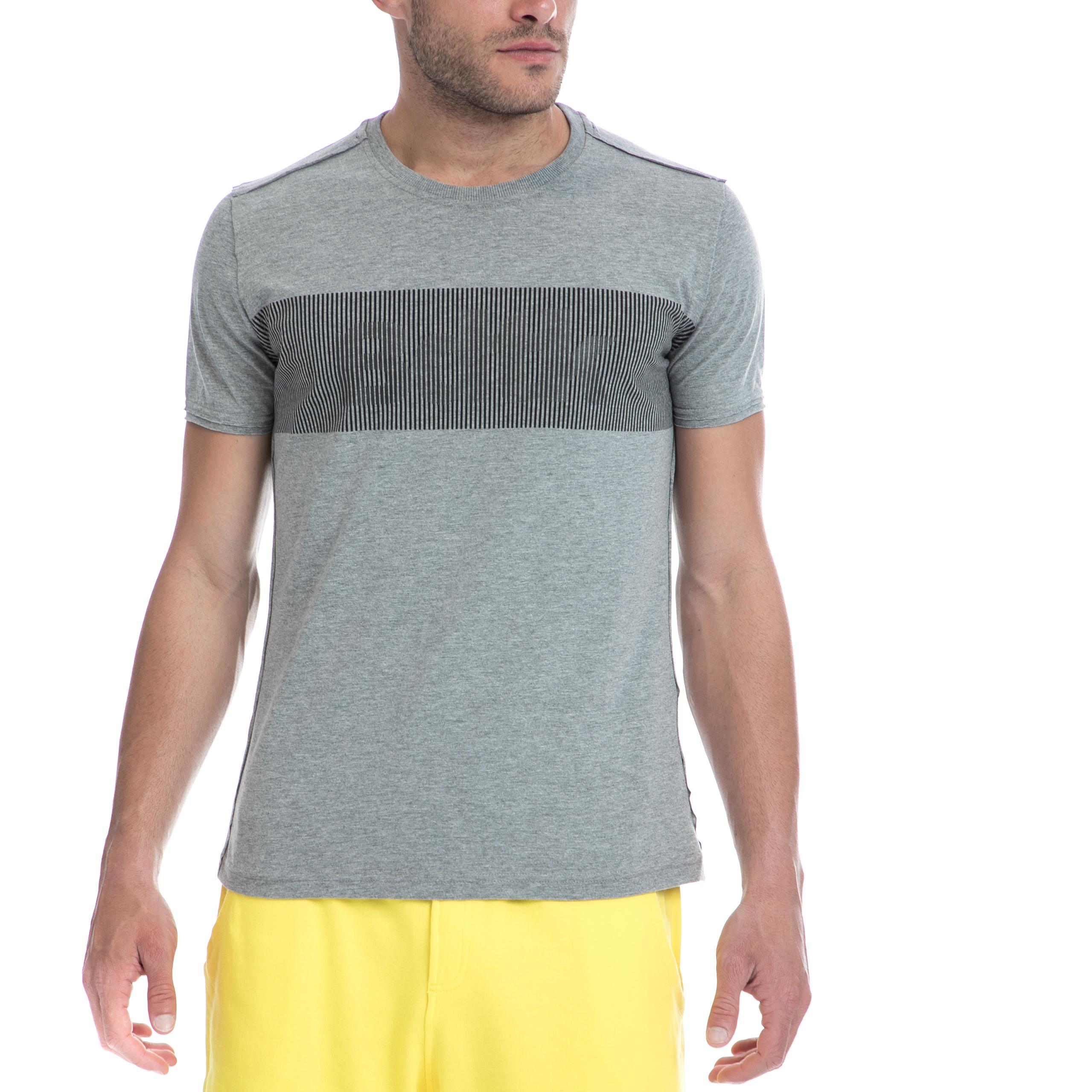 BODYTALK - Ανδρική μπλούζα BODYTALK γκρι ανδρικά ρούχα αθλητικά t shirt