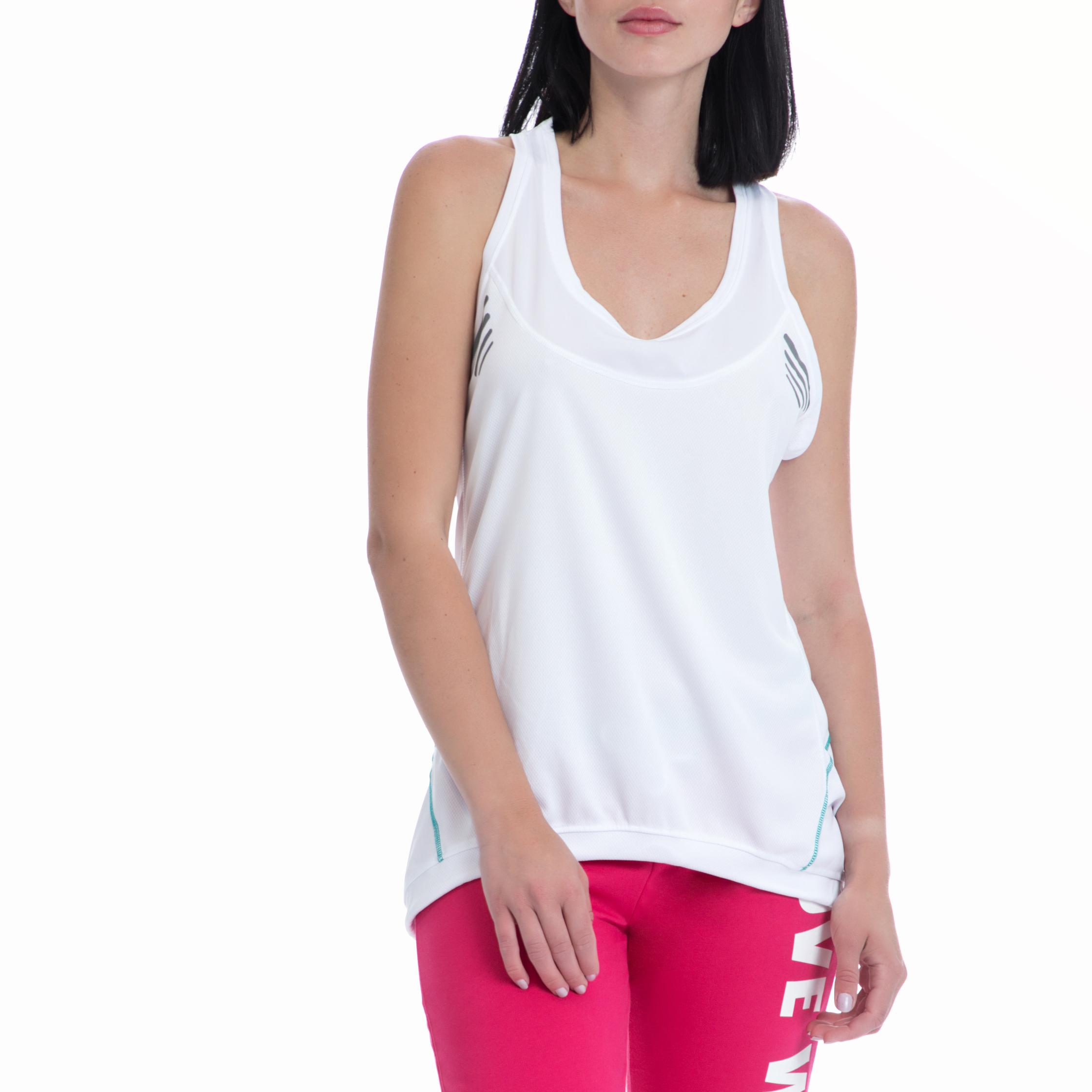 BODYTALK - Γυναικεία αμάνικη μπλούζα BODYTALK λευκή γυναικεία ρούχα αθλητικά t shirt τοπ