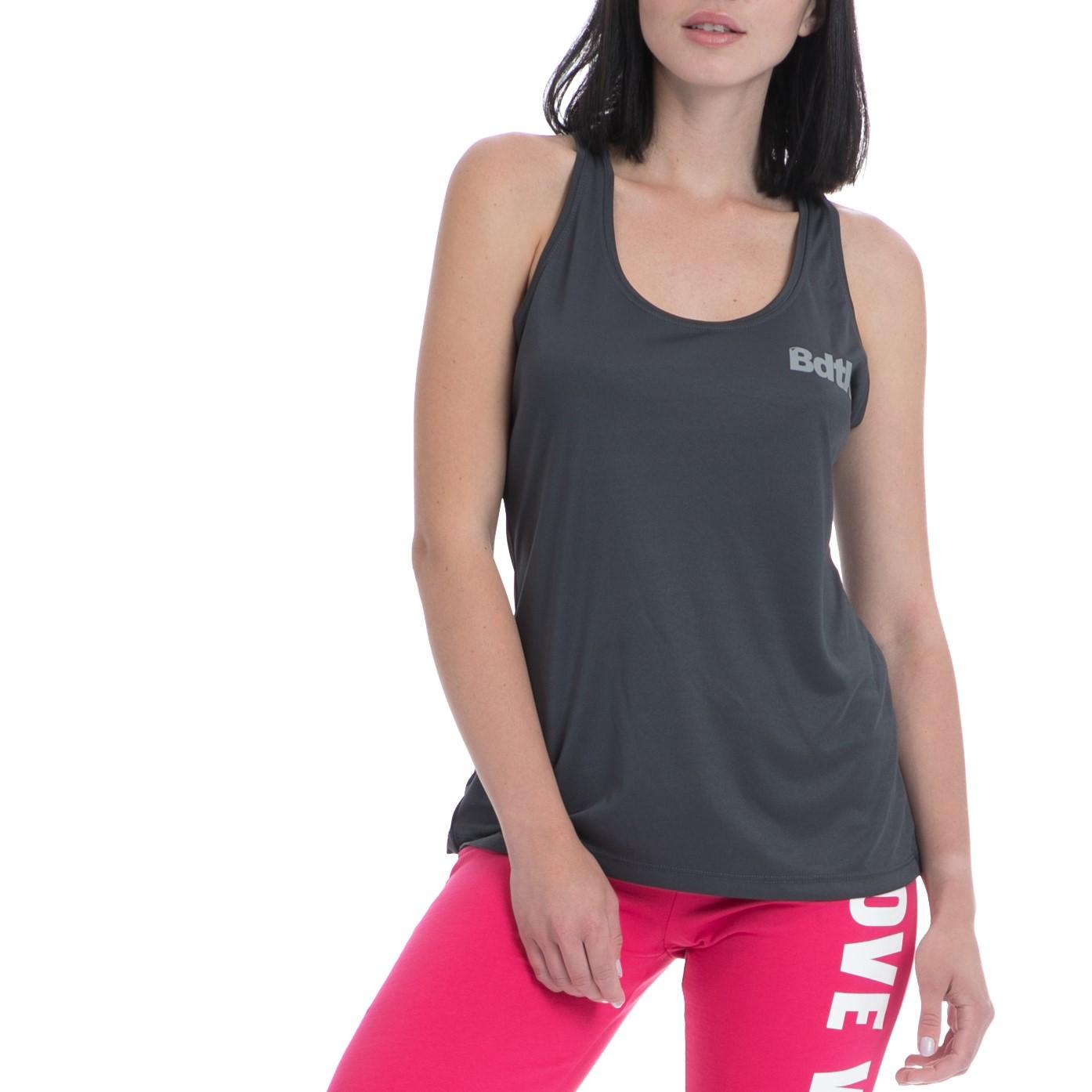 BODYTALK - Γυναικεία αμάνικη μπλούζα BODYTALK γκρι γυναικεία ρούχα αθλητικά t shirt τοπ