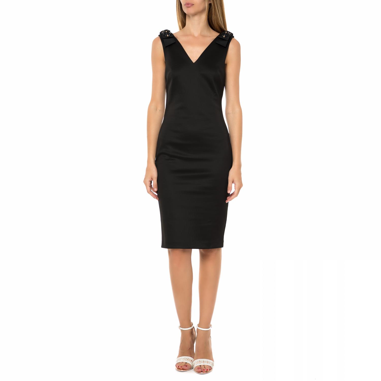 TED BAKER - Γυναικείο bodycon φόρεμα TED BAKER BELLIAH μαύρο γυναικεία ρούχα φορέματα μέχρι το γόνατο