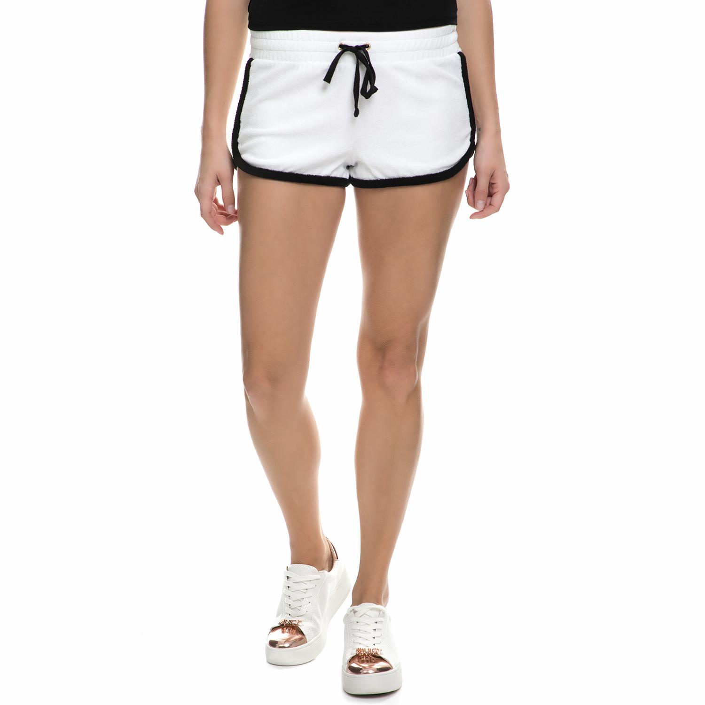 JUICY COUTURE – Γυναικείο σορτς Juicy Couture MICROTERRY VENICE άσπρο – μαύρο