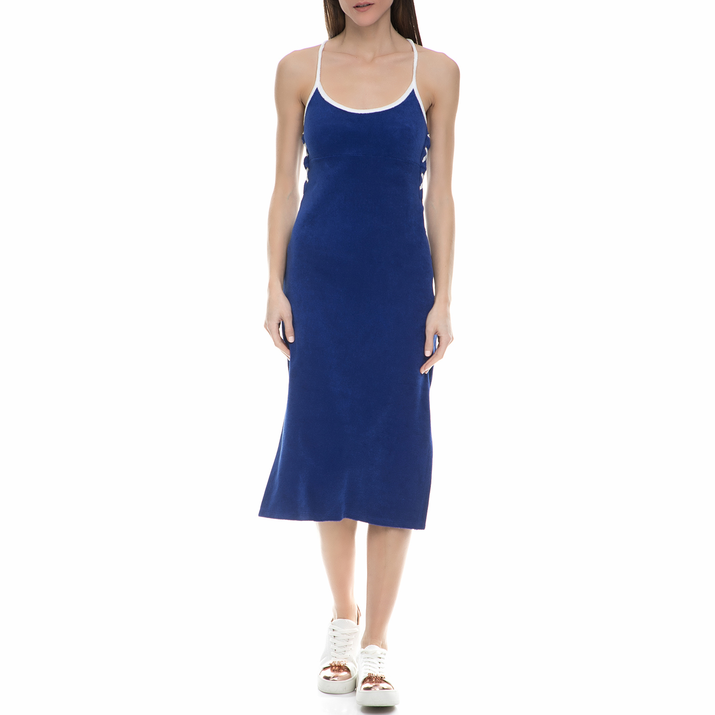 JUICY COUTURE - Γυναικείο midi φόρεμα πετσετέ Juicy Couture μπλε - λευκό