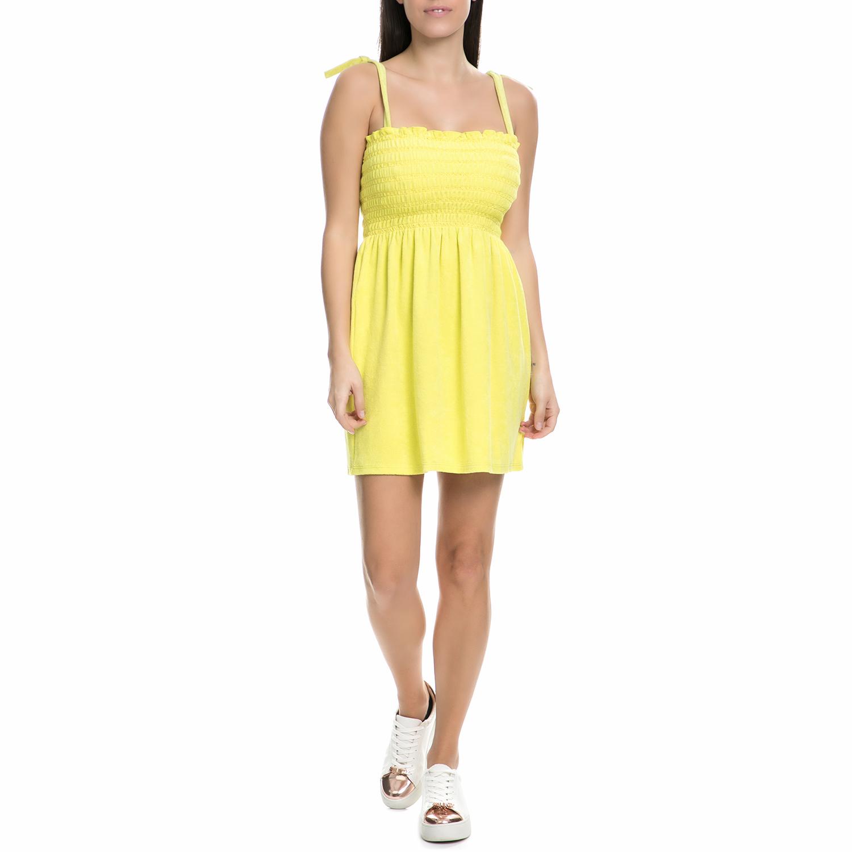 JUICY COUTURE - Γυναικείο μίνι φόρεμα πετσετέ Juicy Couture κίτρινο γυναικεία ρούχα φορέματα μίνι
